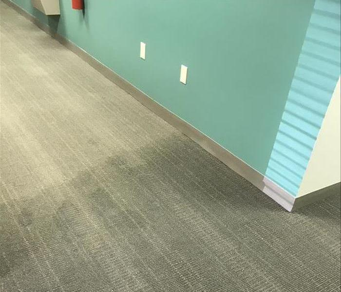 Office Building Water Damage Before