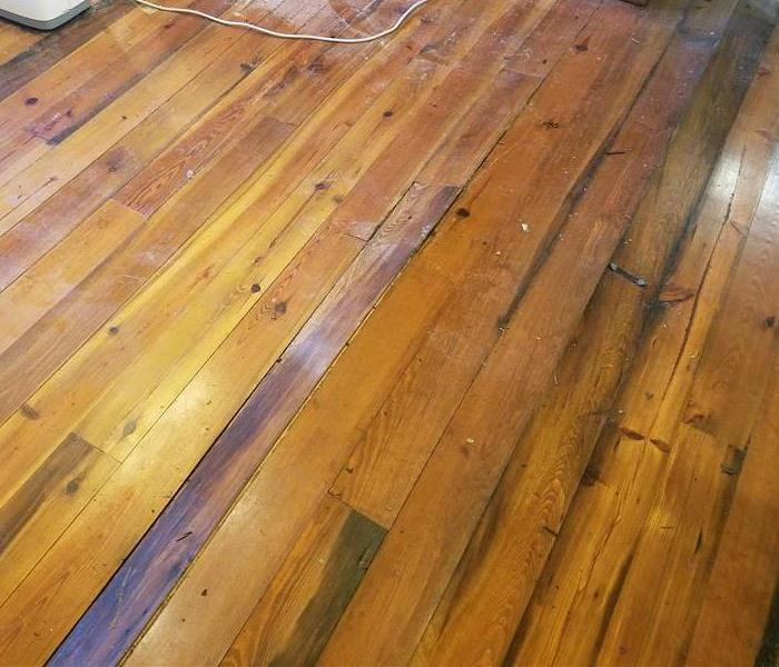 Wood Floors Damaged by Storm Flooding
